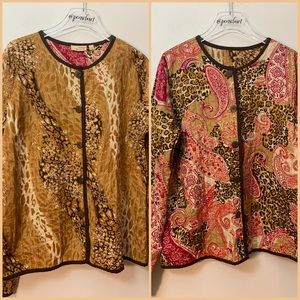 Choices NWT Reversible Lightweight Leopard Jacket